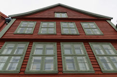 Hanseatic facade. Typical hanseatic house facade in Bryggen, Bergen, Norway Royalty Free Stock Photography