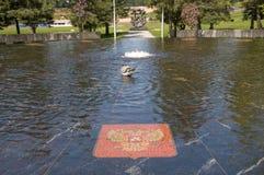 Hanseatic fountain in Veliky Novgorod Stock Photography