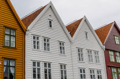 Hanseatic houses. Typical Hanseatic houses in Bryggen, Bergen, Norway Stock Photo