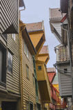 Hanseatic houses. Typical hanseatic houses in Bryggen, Bergen, Norway Stock Photos