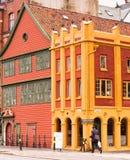 Hanseatic museum i Bergen, Norge Arkivbild