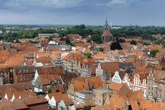 Hanseatic Topwn Luneburg, Germany. View from Water Tower (Wasserturm), Luneburg, Germany Royalty Free Stock Photography