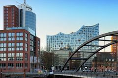 The Hanseatic Trade Center and concert hall Elbphilharmonie, Ham Stock Image
