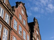 Hanseatic Trader Houses in Hamburg Left Royalty Free Stock Photo
