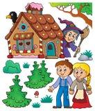 Hansel και σύνολο 1 θέματος Gretel ελεύθερη απεικόνιση δικαιώματος