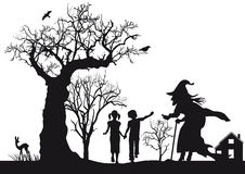 Hansel και Gretel Στοκ εικόνα με δικαίωμα ελεύθερης χρήσης