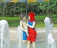 Hansel и Gretel с курортом Ciechocinek Стоковые Фото