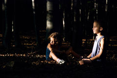 Hansel e Gretel Fotografie Stock Libere da Diritti