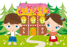Hansel et gretel illustration libre de droits
