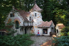 Hansel and Gretel. The house of the witch from the fairy tale Hansel and Gretel, in the Dutch Theme Park, Efteling Stock Photography