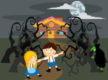 Hansel and gretel. A hansel and gretel illustration Royalty Free Stock Image