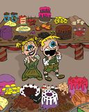 Hansel and Gretel illustration Stock Photography