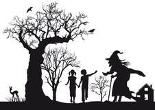 Hansel och Gretel royaltyfri illustrationer