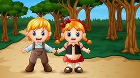 Hansel y gretel en el bosque libre illustration