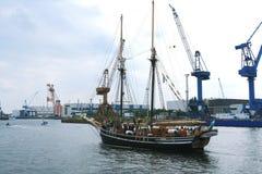 Hansesail w Warnemuende i Rostock schronieniu Zdjęcie Royalty Free