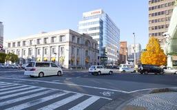 Hanshin motorväg i den i stadens centrum Kobe staden Arkivfoton