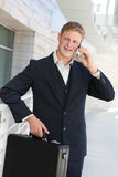 Hansome Business Man on Phone Stock Photos
