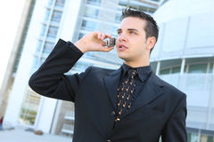 Hansome Business Man on Phone Royalty Free Stock Images