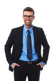 Hansome man. Self confident, pleased and hansome businessman Stock Photography