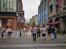 Hanstraat in wuhan stad Royalty-vrije Stock Foto's