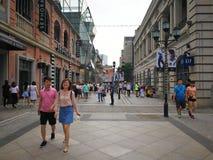 Hanstraat in wuhan stad Royalty-vrije Stock Fotografie