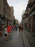 Hanstraat in wuhan stad Stock Fotografie