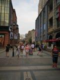 Hanstraat in wuhan stad Stock Foto's