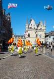 Hanswijk队伍在梅赫伦,比利时的市中心 库存照片