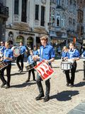 Hanswijkoptocht in het stadscentrum van Mechelen, België royalty-vrije stock foto's