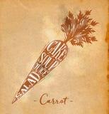 Hantverk för morotklippintrig stock illustrationer