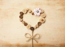 Hantverk för tappning för förälskelseträd Arkivfoto