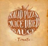 Hantverk för tomatklippintrig vektor illustrationer