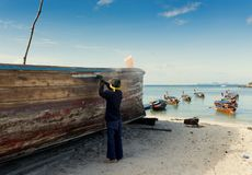 hantverk Koh Lipe ö - Thailand Royaltyfri Fotografi