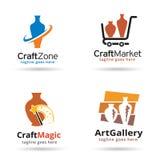 Hantverk Logo Template Design Vector Royaltyfri Bild