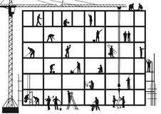 Hantverkare på konstruktionsplats vektor illustrationer