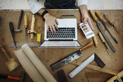 HantverkareProfession Occupation Pursuit kompetent begrepp royaltyfria foton
