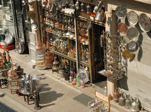 Hantverket shoppar i Istanbul, Turkiet Royaltyfri Bild