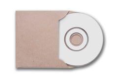 Hantverkkuvert med den cd skivan Fotografering för Bildbyråer