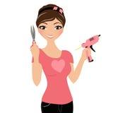 Hantverkkvinna vektor illustrationer
