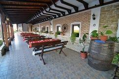 Hanu Ancutei terrace Royalty Free Stock Photography