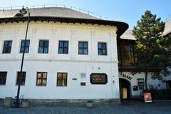 Hanu lui Manuc,罗马尼亚餐馆在老城市,布加勒斯特 免版税图库摄影