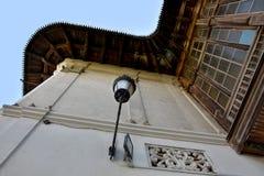 Hanu lui Manuc,罗马尼亚餐馆在老城市,布加勒斯特 免版税库存照片