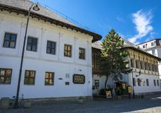 Hanu lui Manuc,罗马尼亚餐馆在老城市,布加勒斯特 库存图片