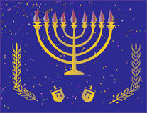 Hanuka heureux illustration libre de droits