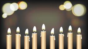 Hanukah świateł festiwalu święty tło Zdjęcia Stock