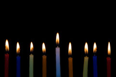 Hanukah Candles Royalty Free Stock Photography