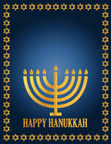 Hanukah Design illustration card Stock Photos