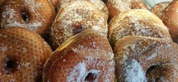 Hanukah 2015 doughnuts with holes Royalty Free Stock Photography