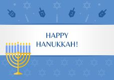 Hanukah greetings. Vector Hanukkah holiday greeting card