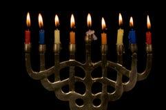 Hanukah Menorah Foto de archivo libre de regalías